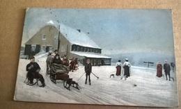 WINTERSPORT AN DER SPINDLERBAUDE I.R VIAGGIATA 1923(??)  (627) - Sports D'hiver