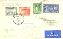 Newfoundland: 1939   Inaugural Flight - Newfoundland To England Via Dublin    COVER - Terre-Neuve
