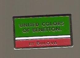 PIN'S UNITED COLORS OF BENETTON BY BULOVA - MONTRE - Altri