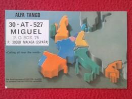 TARJETA TIPO POSTAL TYPE POST CARD QSL RADIOAFICIONADOS RADIO AMATEUR ALFA TANGO MAPA DE EUROPA EUROPE MAP CARTE POSTALE - Tarjetas QSL