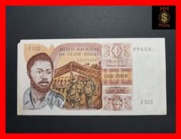 GUINEA BISSAU 100 Pesos  24.9.1975  P. 2  VF   MISSING CORNER  RARE - Guinea-Bissau