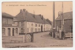 59 SAULTAIN Nord N°5 Vers Valenciennes La Poste Et L'Emaillerie PN Passage à Niveau En 1939 Edit  ODIN-GOFFAR - Valenciennes