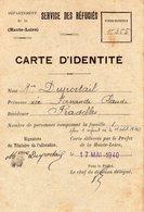 """Document- """" Service Des Réfugiés""""-   Carte D'Identité - Documentos"""