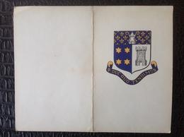 Menu. 58. Menu De La Réunion Des Anciens 1909-1959. Institut Notre Dame De Bonne Espérance Braine Le Comte - Menus