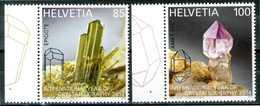 SVIZZERA / HELVETIA 2014** - Anno Internazionale Cristallografia - 2 Val. MNH, Come Da Scansione. - Minerali