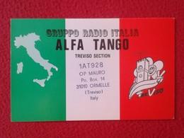 POSTAL POSTCARD QSL RADIOAFICIONADOS RADIO AMATEUR GRUPPO ALFA TANGO ITALIA TREVISO SECTION MAPA MAPA ITALY VER FOTOS - Tarjetas QSL