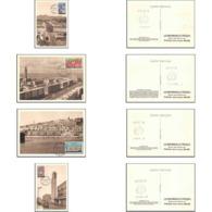 1237/ Carte Maximum (card) France N°1152/1155 Villes Reconstruites Fdc Premier Jour - Maximum Cards