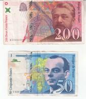 4425  FRANCE  LOT  200 ¸+ 50  FRANCS  1997 - 1992-2000 Ultima Gama