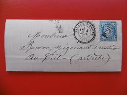 LETTRE CACHET SAULCE SUR RHONE GC 4654 FRAPPE SUPERBE - Marcophilie (Lettres)