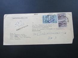 Pakistan 1972 Registered Mail Rangpur Bazar Violetter Stempel L2 Bangladesh Rangpur - Dacca - Pakistan
