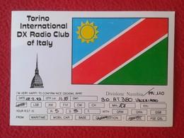 POSTAL POST CARD QSL RADIOAFICIONADOS RADIO AMATEUR TORINO DIV. NAMIBIA INTERNATIONAL DX CLUB OF ITALY ITALIA TURIN - Tarjetas QSL