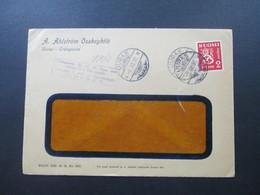 Finnland 1939 A.Ahlström Osakeyhtiö Uuras Trangsund Violetter Stempel Tarkastettu 20.1o.39 Ann. Asetuksen No 348 Nojalla - Cartas