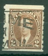 Canada: 1937/38   KGVI   SG369    2c   [Coil - Perf: Imperf X 8]    Used - 1937-1952 Règne De George VI