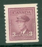 Canada: 1942/48   KGVI - Coil  SG398    3c    [Imperf X Perf: 9½]    MNH - 1937-1952 Règne De George VI