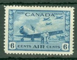 Canada: 1942/48   War Effort - Air   SG399    6c      MH - 1937-1952 Règne De George VI