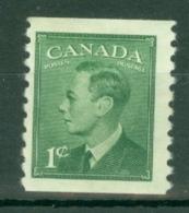 Canada: 1949/51   KGVI (inscr. 'Postes  Postage')    SG419     1c  [Perf: Imperf X 9½]     MH - 1937-1952 Règne De George VI