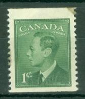 Canada: 1949/51   KGVI (inscr. 'Postes  Postage')    SG422b     1c   [Perf: Imperf X 12]     MH - 1937-1952 Règne De George VI