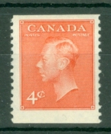 Canada: 1949/51   KGVI (inscr. 'Postes  Postage')    SG423c     4c   Vermilion   [Perf: Imperf X 12]     MH - 1937-1952 Règne De George VI