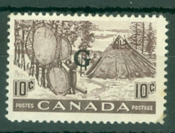 Canada: 1950/51   Official - Pictorial 'G' OVPT   SG O191    10c    MH - Surchargés