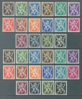 "BELGIQUE - 1944 - MNH/**- LION HERALDIQUE ""V"" ""V DE LONDRES"" - COB 674-689A - Lot 19977 - Bélgica"