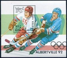 Laos 1990  BF 110 ; Block 133 **  MNH  Winter Olympics, Albertville (II) - Laos