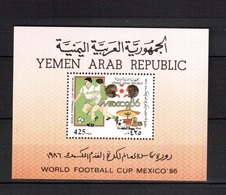 Yemen(YAR)-1988(Mi.Bl.251) , Football, Soccer, Fussball,calcio, MNH - World Cup