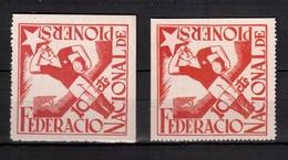Spain-1937, Vignette ,poster Stamp,cinderella,label(with Glue), Football, Soccer, Fussball,calcio,MH - Calcio