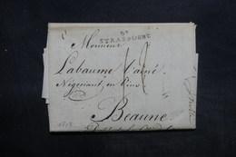 """FRANCE - Lettre De Strasbourg Pour Beaune En 1807, Marque Postale """" 67 Strasbourg """" - L 35981 - 1801-1848: Voorlopers XIX"""