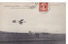 Chalon-Aviation - 21-21 Mai - Junod, Sur Biplan Militaire Farman En Plein Vol - Aviateurs