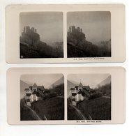 AK-2354/ 2 X  Dorf Tirol Bei Meran Stereofoto 1909  Photobrom Gesellsch., Wien  - Stereo-Photographie