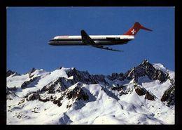 C1721 AEREO AIRPLANE SWISSAIR DC-9 UBER DEN SCHWEIZER ALPEN - 1946-....: Modern Era