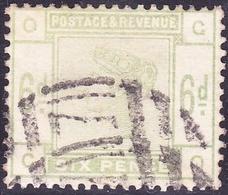 GREAT BRITAIN 1883 QV 6d Dull Green SG194 CV £200 - 1840-1901 (Victoria)
