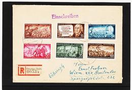 OCT339 DDR 1953 MICHL 398/03 Auf RECO / EINSCHREIBEN SIEHE ABBILDUNG - DDR