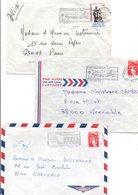 REUNION LOT DE LETTRES DIVERSES POIDS 140 GRAMMES - Stamps