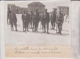 1911 LA LA NOUVELLE TENUE DU 106 D'INFANTERIE SOLDATS L'EXERCICE  18*13CM Maurice-Louis BRANGER PARÍS (1874-1950) - War, Military