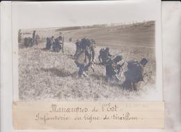 MANOEUVRES DE L'EST INFANTERIE EN LIGNE DE TIRAILLEUR   18*13CM Maurice-Louis BRANGER PARÍS (1874-1950) - Guerre, Militaire