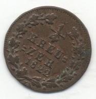 ALLEMAGNE - NASSAU 1/4 Kreuzer Grand-Duché De Nassau 1822 - [ 1] …-1871 : Etats Allemands