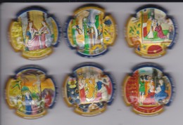 SERIE COMPLETA DE 6 PLACAS DE CAVA MERVILLA TEMA RELIGIOSO (CAPSULE) - Placas De Cava