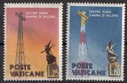 Vaticano 1959 Uf. 262-263 Centro Radio S. Maria Full Set MNH - Telecom