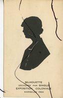 PHOTO FANTAISIE  . Silhouette Découpée Par SINGLO Exposition Coloniale MARSEILLE 1922. - Other