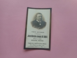 D.P-JULES-A.J.DE CROIX °THIELT 29-3-1861+1-3-1913 - Godsdienst & Esoterisme