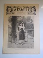 """1894 N° 773 JOURNAL """"LA FAMILLE"""" QUI VEUT DU PLAISIR, MESDAMES !!! Gravure LA LUNE DE MIEL LELOIR - CAUSERIE STEVENS - Newspapers"""