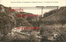 23 ☺♦♦ CHAMBON Sous VOUEIZE - TRAIN Sur Le VIADUC Sur La TARDES - Chambon Sur Voueize