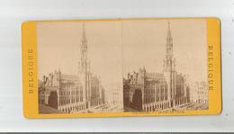 BRUXELLES PHOTO STEREOSCOPIQUE ANCIENNE DE L'HOTEL DE VILLE - Photos Stéréoscopiques