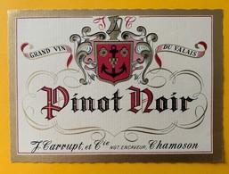 11021 - Pinot Noir J.Carrupt Chamoson Suisse - Etiquettes