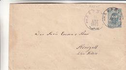 Russie - Estonie - Lettre De 1889 - Entiers Postaux - Oblit Dorpat - Exp Vers Rinigall  ? - 1857-1916 Imperium