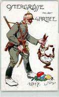 52725333 - Sign. Weiss, Emil Soldat Pickelhaube Hase Ostern - Oorlog 1914-18