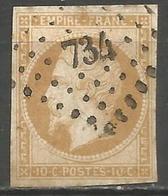 FRANCE - Oblitération Petits Chiffres LP 734 CHAOURCE (Aube) - Marcophilie (Timbres Détachés)