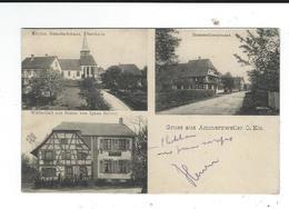 CPA 68 Gruss Aus Ammerzweiler O Els Multivues  Maintenant Bernwiller Circulé 28 Aout 1914 Kuntz Gebweiler TBE 2 Scan - Other Municipalities