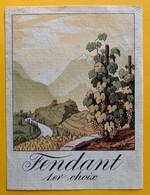 11026 - Fendant 1er Choix  Suisse - Etiquettes